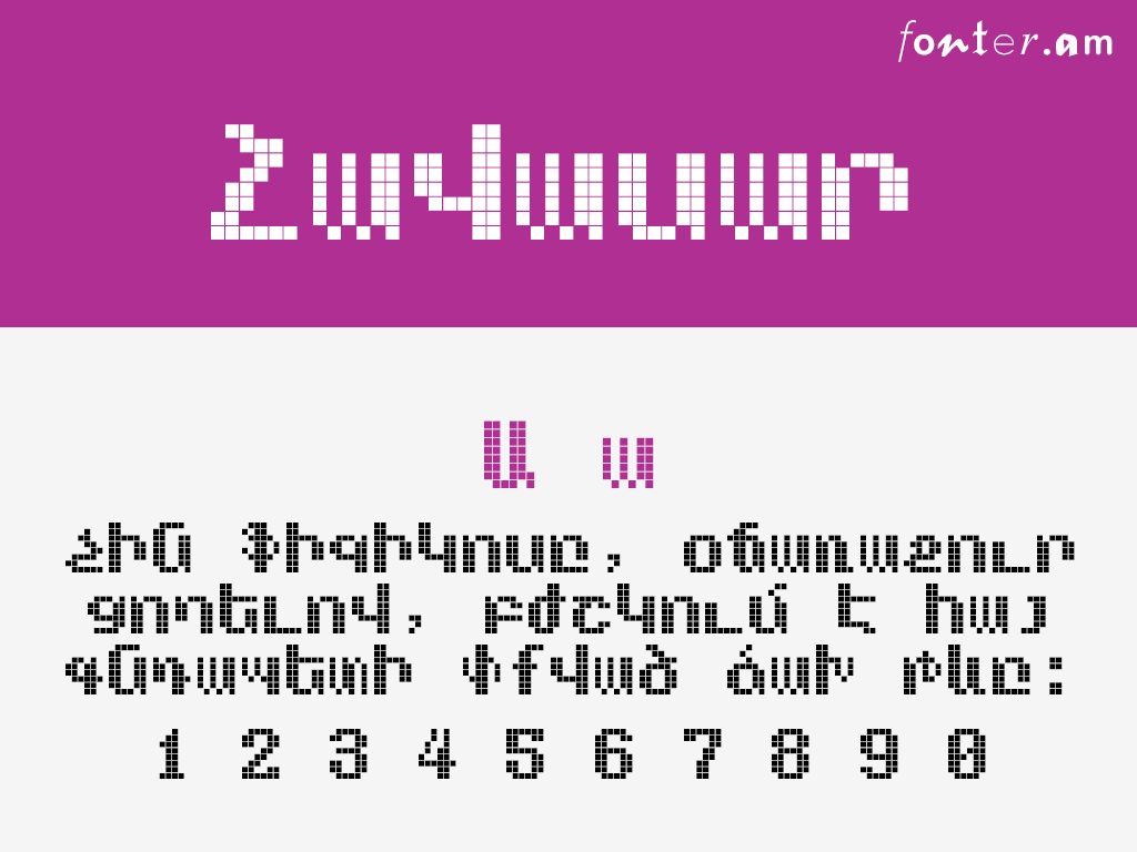 even Armenian free font